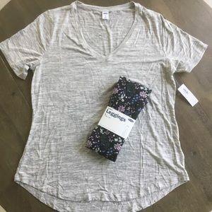 2 Piece Old Navy Luxe T-shirt & Legging Set Medium